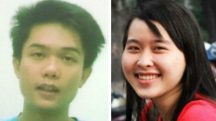 Nguyen Kha and Phuong Uyen, two student activists who were sentenced today, May 16, 2013, to 8 and 6 years of imprisonment for distributing leaflets calling for demonstrations against China.