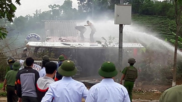 forced eviction Lai chau April 18