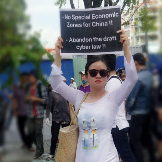 Protester SEZ and draft cyber security law protests