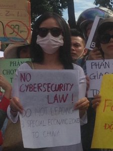 Female activist_cybersecurity protest