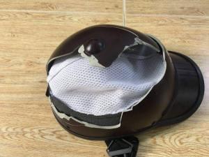 Broken helmet_August attack